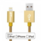 GTcoupe Nylon Braided Lightning USB Data Charging Cable - Golden (1m)