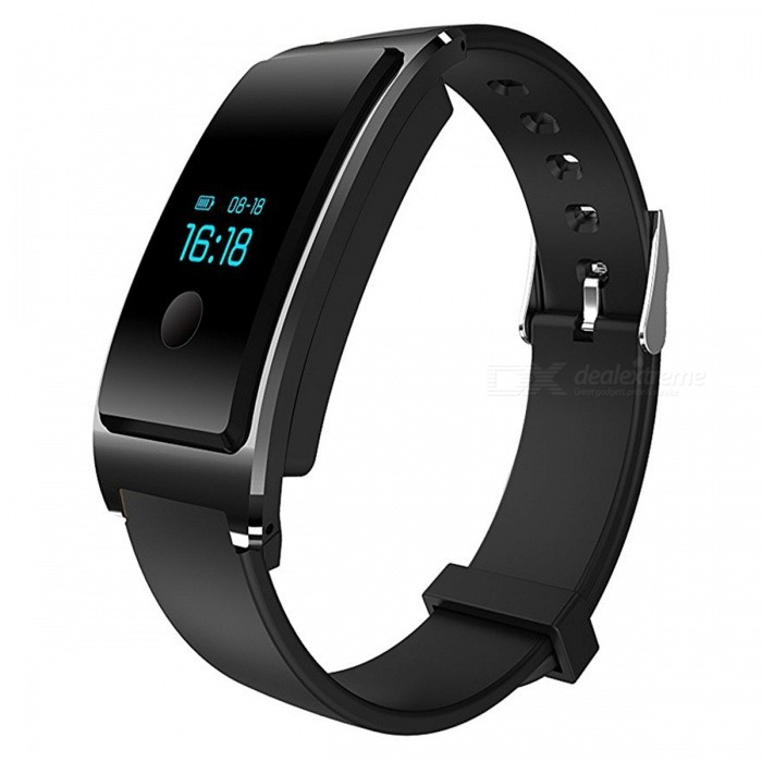 DM8 IP68 Waterproof Smart Bracelet with Heart Rate Monitor - BlackSmart Bracelets<br>Form  ColorBlackQuantity1 pieceMaterialABSShade Of ColorBlackWater-proofIP68Bluetooth VersionBluetooth V4.0Touch Screen TypeYesCompatible OSAndroid 4.4 and above and iOS 7.1 and aboveBattery Capacity100 mAhBattery TypeLi-polymer batteryStandby Time7 daysPacking List1 x Smart Heart Rate Bracelet<br>