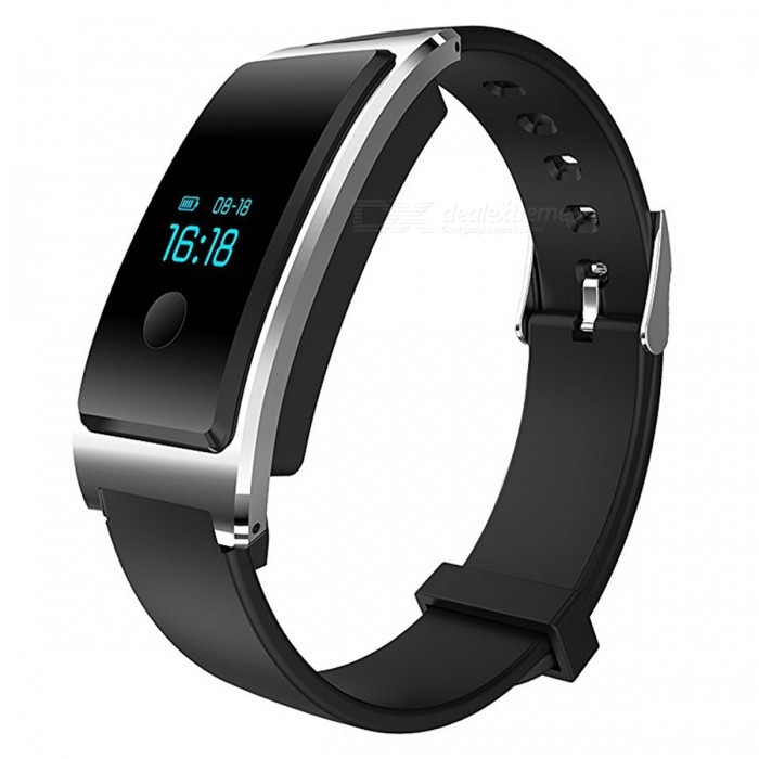 DM8 IP68 Waterproof Smart Bracelet with Heart Rate Monitor - SilverSmart Bracelets<br>Form  ColorSilver + MulticoloredQuantity1 DX.PCM.Model.AttributeModel.UnitMaterialABSShade Of ColorSilverWater-proofIP68Bluetooth VersionBluetooth V4.0Touch Screen TypeYesCompatible OSAndroid 4.4 and above and iOS 7.1 and aboveBattery Capacity100 DX.PCM.Model.AttributeModel.UnitBattery TypeLi-polymer batteryStandby Time7 DX.PCM.Model.AttributeModel.UnitPacking List1 x Smart Heart Rate Bracelet<br>