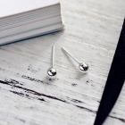 4mm s925 sterling silver ball style stud earrings (pair)