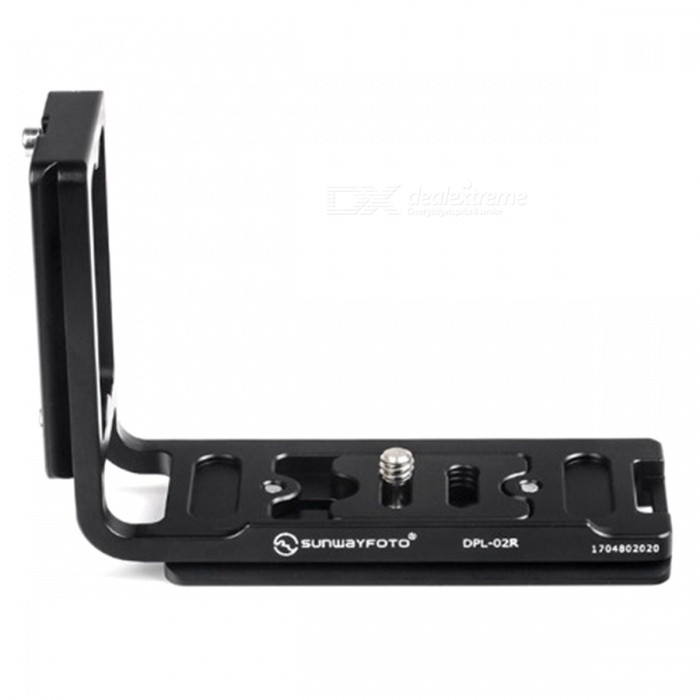 SUNWAYFOTO DPL-02R Universal Quick Release PlateTripods and Holders<br>Form  ColorBlackModelDPL-02RMaterialAluminum alloyQuantity1 pieceShade Of ColorBlackTypeOthers,Universal plateRetractableNoMax.Load10 kgPacking List1 x DPL-02R<br>