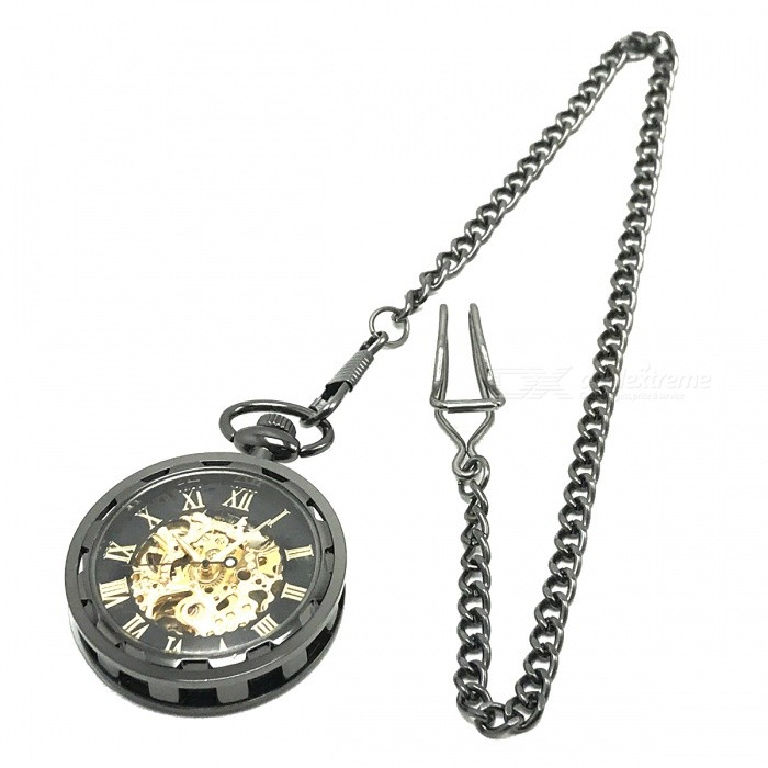 W24 Mens Zinc Alloy Mechanical Analog Pointer Pocket Watch - BlackPocket Watches<br>Form  ColorBlack + GoldModelW24Quantity1 pieceShade Of ColorBlackCasing MaterialStainless steelWristband MaterialZinc AlloyGenderMenSuitable forAdultsStylePocket WatchTypeCasual watchesChain Length37.5 cmDisplayAnalogMovementMechanicalDisplay Format12 hour formatWater ResistantFor daily wear. Suitable for everyday use. Wearable while water is being splashed but not under any pressure.Wristband Length37.5 cmDial Diameter5.5 cmDial Thickness1.2 cmBand Width0.2 cmBatteryNoPacking List1 x Pocket watch<br>