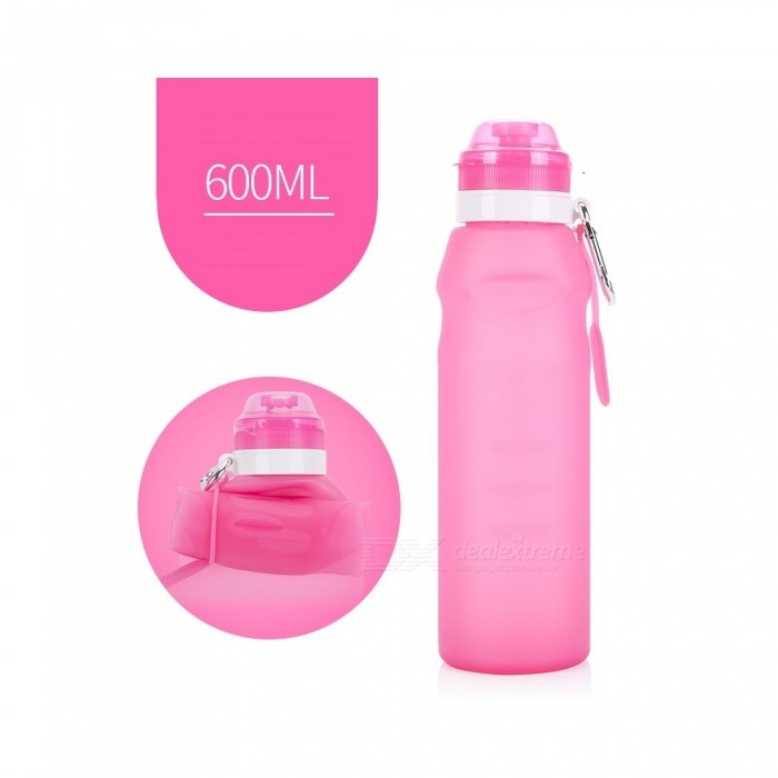 NUCKILY Outdoor Portable Folding 600ML Silicone Water Bottle - PinkBike Accessories<br>Form  ColorPinkModelRD001Quantity1 DX.PCM.Model.AttributeModel.UnitMaterialTPU, PPTypeWater BottlesGenderUnisexLiquid capacity600 DX.PCM.Model.AttributeModel.UnitWaterproofYesBest UseCycling,Mountain Cycling,Recreational Cycling,Road Cycling,Triathlon,Bike commuting &amp; touringPacking List1 x Water bottle<br>