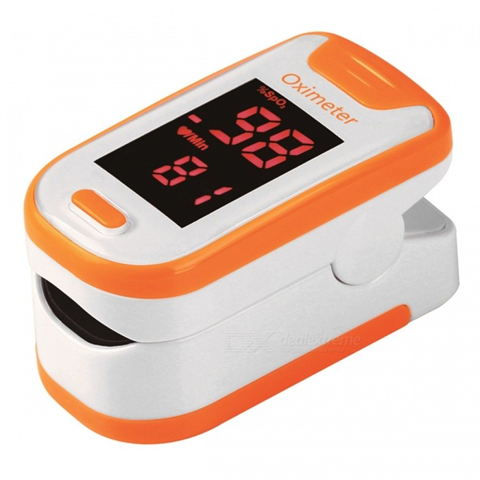 Mini Portable Fingertip Blood Pulse Oximeter - OrangeHeart Rate Monitor<br>Form  ColorOrange + WhiteShade Of ColorOrangeMaterialABSQuantity1 DX.PCM.Model.AttributeModel.UnitDisplayLEDTarget PositionFingerBattery Number2Power SupplyAAABattery included or notNoPacking List1 x Fingertip Oximeter (without battery)1 x Lanyard1 x English user manual<br>