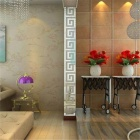 10Pcs DIY Acrylic Mirror Wall Stickers for Bedroom Decoration - Silver