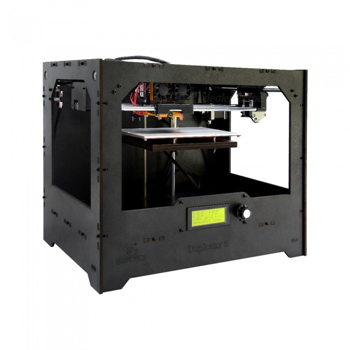 Geeetech Wooden Duplicator 5 DIY Kit Dual Extruder 3D Printer3D Printers, 3D Printer Kits<br>Form  ColorBlackModelDuplicator 5Quantity1 DX.PCM.Model.AttributeModel.UnitMaterialWoodenEnglish Manual / SpecNoDownload Link   http://www.geeetech.com/Documents/Duplicator%205%20Assembly%20Manual.pdfPacking List1 x Duplicator 5 kit<br>