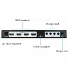 Mini HDMI 4 x 1 vierfach Multi-Viewer mit nahtlosem Switcher