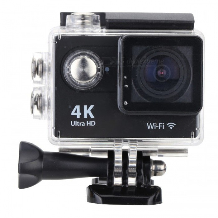 2.0 LCD HD Wi-Fi 4K 1080p 60fps 12MP Action Camera - BlackSport Cameras<br>Form  ColorBlackShade Of ColorBlackMaterialABSQuantity1 pieceImage SensorCMOSImage Sensor Size2/3 inchesAnti-ShakeYesFocal DistanceFocusing RangePhotographed function: Panoramic (5M/8M/12M/16M) cmFocusing RangeFocusing RangePhotographed function: Panoramic (5M/8M/12M/16M)Optical ZoomNoDigital Zoom4XBuilt-in SpeedliteNoWide Angle155°A+ HD Wide-angle LensEffective Pixels4K 25fps/ 2.7K 30fps/ 1080P 60fps/ 1080P 30fps/ 720 60fpsImagesJPGStill Image Resolution12M(4000 x 3000)/ 8M(3264 x 2448)/ 5M(2592 x 1944)/ 4M(2304 x 1728)VideoMOVVideo Resolution4K 25fps/ 2.7K 30fps/ 1080P 60fps/ 1080P 30fps/ 720 60fpsVideo Frame Rate30,60Audio SystemStereoCycle RecordYesISONoExposure CompensationNoSupports Card TypeSDSupports Max. Capacity32 GBLCD ScreenYesScreen Size2 inchBattery Measured Capacity 1050 mAhNominal Capacity1050 mAhBattery included or notYesPacking List1 x Mini Sport Camera1 x Waterproof Case1 x Power adapter1 x Battery1 x USB Cable1 x Bicycle Stand1 x Camera Bracket1 x Clip1 x Fixed Base1 x J-shaped Mount Base1 x Replacement Waterproof Case Back1 x Wiper2 x Adhesive Tapes2 x Helmet Bases3 x Switch Supports2 x Bandages4 x Ribbon cables1 x Wire Rope1 x User Manual(English)<br>