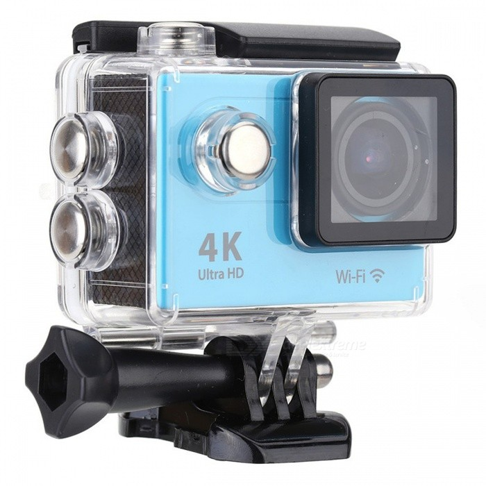 2.0 inch LCD HD Wi-Fi 4K 1080p 60fps 12MP Action Camera - Blue, BlackSport Cameras<br>Form  ColorBlue + BlackShade Of ColorBlueMaterialABSQuantity1 DX.PCM.Model.AttributeModel.UnitImage SensorOthers,12 Mega Pixel OV4689Anti-ShakeYesFocal DistanceFocusing RangePhotographed function: Panoramic (5M/8M/12M/16M) DX.PCM.Model.AttributeModel.UnitFocusing RangeFocusing RangePhotographed function: Panoramic (5M/8M/12M/16M)Effective Pixels4K 25fps/ 2.7K 30fps/ 1080P 60fps/ 1080P 30fps/ 720 60fpsImagesJPGStill Image Resolution12M(4000 x 3000)/ 8M(3264 x 2448)/ 5M(2592 x 1944)/ 4M(2304 x 1728)VideoMOVVideo Resolution4K 25fps/ 2.7K 30fps/ 1080P 60fps/ 1080P 30fps/ 720 60fpsVideo Frame Rate30,60Cycle RecordYesISONoExposure CompensationNoSupports Card TypeSDSupports Max. Capacity32 DX.PCM.Model.AttributeModel.UnitLCD ScreenYesScreen Size2 DX.PCM.Model.AttributeModel.UnitBattery Measured Capacity 1050 DX.PCM.Model.AttributeModel.UnitNominal Capacity1050 DX.PCM.Model.AttributeModel.UnitBattery included or notYesPacking List1 x Mini Sport Camera1 x Waterproof Case1 xThe power adapter1 x Battery1 x USB Cable1 x Bicycle Stand1 x Camera Bracket1 x Clip1 x Fixed Base1 x J-shaped Mount Base1 x Replacement Waterproof Case Back1 x Wiper2 x Adhesive Tapes2 x Helmet Bases3 x Switch Supports2 x Bandages4 x Ribbon cables1 x Wire Rope1 x User Manual(English)<br>