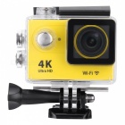 Buy 2.0 inch LCD HD Wi-Fi 4K 1080p 60fps 12MP Action Camera - Yellow