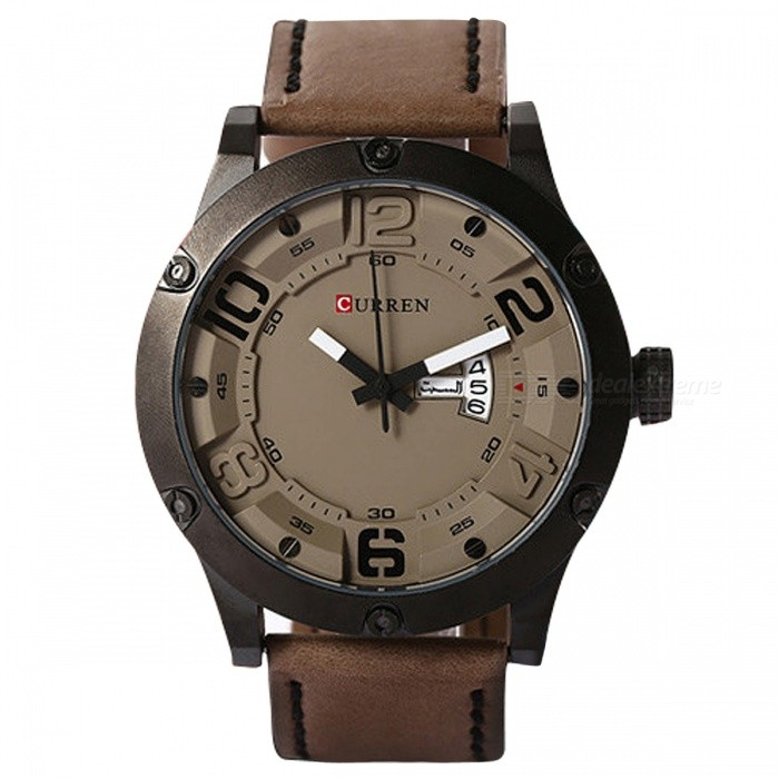 CURREN 8251 Mens Causal Quartz Watch with Leather Strap - Dark GreyQuartz Watches<br>Form  ColorBlack + Dark GreyModel8251Quantity1 DX.PCM.Model.AttributeModel.UnitShade Of ColorBlackCasing MaterialAlloyWristband MaterialPU LeatherSuitable forAdultsGenderMenStyleWrist WatchTypeCasual watchesDisplayAnalogBacklightNoMovementQuartzDisplay Format12 hour formatWater ResistantFor daily wear. Suitable for everyday use. Wearable while water is being splashed but not under any pressure.Dial Diameter5 DX.PCM.Model.AttributeModel.UnitDial Thickness1 DX.PCM.Model.AttributeModel.UnitWristband Length25 DX.PCM.Model.AttributeModel.UnitBand Width2.3 DX.PCM.Model.AttributeModel.UnitBattery626Packing List1 x Watch1 x Gift Box<br>