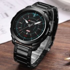 CURREN 8266 High-End Men's Quartz Watch with Alloy Strap - Black