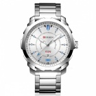 CURREN 8266 High-End Men's Quartz Watch with Alloy Strap - Silver