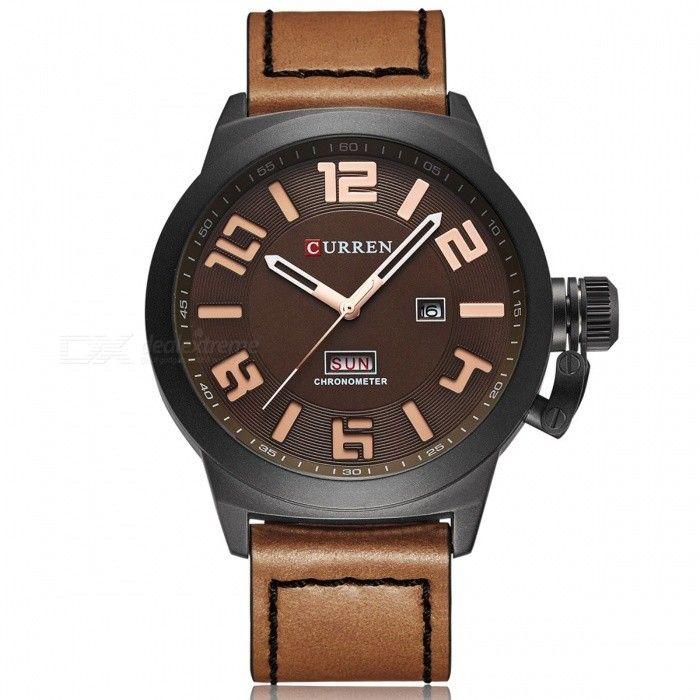 CURREN 8270 Mens Causal Quartz Watch with Leather Strap - BlackQuartz Watches<br>Form  ColorBrown + BlackModel8270Quantity1 pieceShade Of ColorBrownCasing MaterialAlloyWristband MaterialPU LeatherSuitable forAdultsGenderMenStyleWrist WatchTypeCasual watchesDisplayAnalogBacklightNoMovementQuartzDisplay Format12 hour formatWater ResistantFor daily wear. Suitable for everyday use. Wearable while water is being splashed but not under any pressure.Dial Diameter5 cmDial Thickness1 cmWristband Length25 cmBand Width2.3 cmBattery626Packing List1 x Watch1 x Gift Box<br>