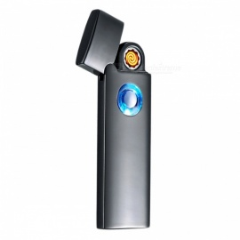 ZHAOYAO Windproof Tungsten Wire USB Charging Lighter - Black