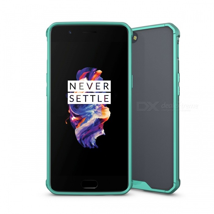 Shock-proof Protection Back Case for Oneplus 5 - GreenPlastic Cases<br>Form  ColorGreenModelN/AMaterialTPU + acrylicQuantity1 DX.PCM.Model.AttributeModel.UnitShade Of ColorGreenCompatible ModelsOneplus 5FeaturesShock-proofPacking List1 x Case<br>