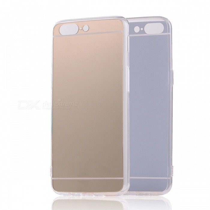 TPU PC Mirror Back Case Cover for Oneplus 5 - Translucent Golden