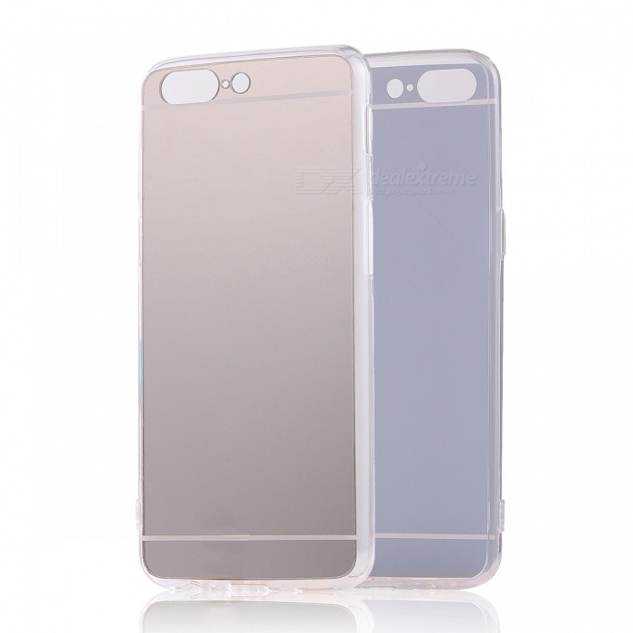 TPU PC Mirror Back Case Cover for Oneplus 5 - Translucent Silver