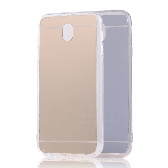 TPU�� PC Mirror Back Case for Samsung Galaxy J530 (2017)�� J5 Pro - Gold