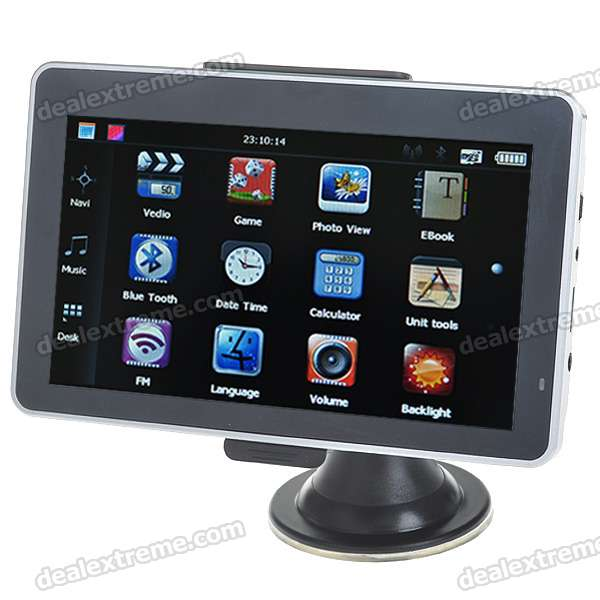"6.0"" LCD Windows CE 5.0 MT3551 CPU GPS Navigator with Bluetooth and USA Maps 4GB TF Card - Silver"