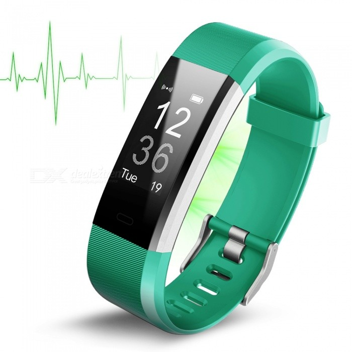 ID115Plus Waterproof HR Smart Bracelet with Heart Rate Monitor - GreenSmart Bracelets<br>Form  ColorGreenModelID115PlusQuantity1 pieceMaterialABSShade Of ColorGreenWater-proofYesBluetooth VersionBluetooth V4.0Touch Screen TypeYesCompatible OSAndroid 4.4 and  ios 7.1 above systemBattery Capacity65 mAhBattery TypeLi-polymer batteryStandby Time10 daysPacking List1 x Smart Wristband1 x User manual<br>