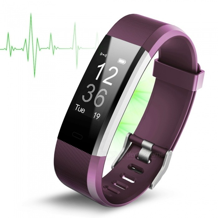 ID115Plus Waterproof HR Smart Bracelet with Heart Rate Monitor -PurpleSmart Bracelets<br>Form  ColorPurpleModelID115PlusQuantity1 DX.PCM.Model.AttributeModel.UnitMaterialABSShade Of ColorPurpleWater-proofYesBluetooth VersionBluetooth V4.0Touch Screen TypeYesCompatible OSAndroid 4.4 and  ios 7.1 above systemBattery Capacity65 DX.PCM.Model.AttributeModel.UnitBattery TypeLi-polymer batteryStandby Time10 DX.PCM.Model.AttributeModel.UnitPacking List1 x Smart Wristband1 x User manual<br>
