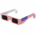 Portable American Flag Pattern Eclipse Glasses Goggles