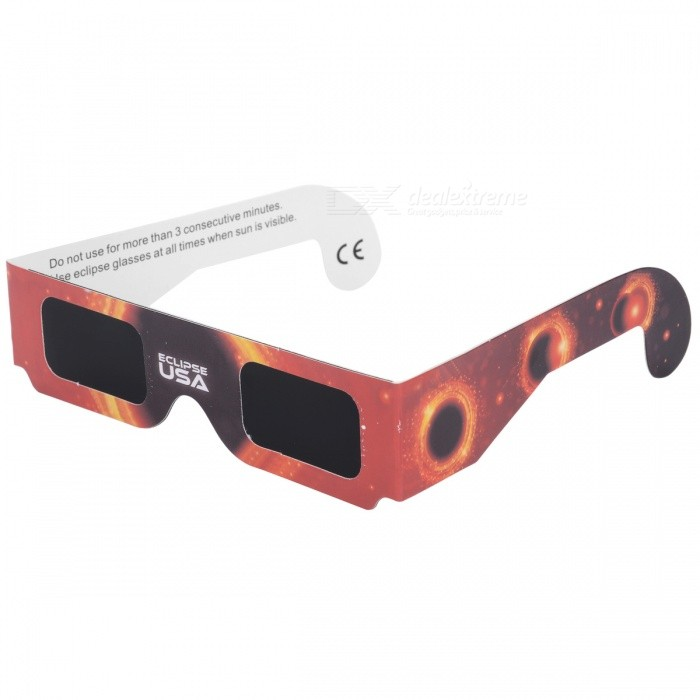 Portable Eclipse Glasses Goggles - Flame Red