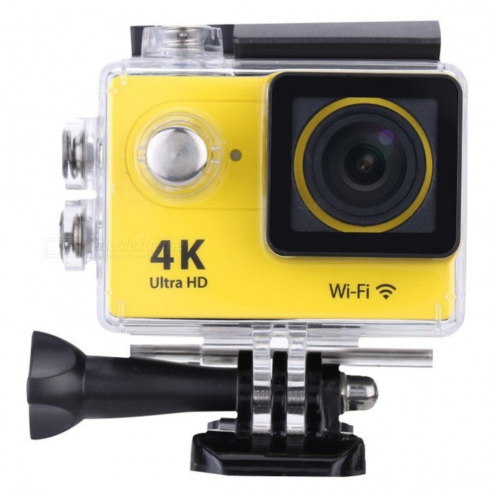 16GB  2.0 LCD HD Wi-Fi 4K 1080p 60fps 12MP Action Camera - YellowSport Cameras<br>Form  Color Yellow + Black + 16GB MemoryShade Of ColorYellowMaterialABSQuantity1 DX.PCM.Model.AttributeModel.UnitImage SensorOthers,12 Mega Pixel OV4689Anti-ShakeYesFocal DistanceFocusing RangePhotographed function: Panoramic (5M/8M/12M/16M) DX.PCM.Model.AttributeModel.UnitFocusing RangeFocusing RangePhotographed function: Panoramic (5M/8M/12M/16M)Effective Pixels4K 25fps/ 2.7K 30fps/ 1080P 60fps/ 1080P 30fps/ 720 60fpsImagesJPGStill Image Resolution12M(4000 x 3000)/ 8M(3264 x 2448)/ 5M(2592 x 1944)/ 4M(2304 x 1728)VideoMOVVideo Resolution4K 25fps/ 2.7K 30fps/ 1080P 60fps/ 1080P 30fps/ 720 60fpsVideo Frame Rate30,60Cycle RecordYesISONoExposure CompensationNoSupports Card TypeSDSupports Max. Capacity32 DX.PCM.Model.AttributeModel.UnitLCD ScreenYesScreen Size2 DX.PCM.Model.AttributeModel.UnitBattery Measured Capacity 1050 DX.PCM.Model.AttributeModel.UnitNominal Capacity1050 DX.PCM.Model.AttributeModel.UnitBattery included or notYesPacking List1 x Mini Sport Camera1 x Waterproof Case1 x Power adapter1 x 16GB Memory1 x Battery1 x USB Cable1 x Bicycle Stand1 x Camera Bracket1 x Clip1 x Fixed Base1 x J-shaped Mount Base1 x Replacement Waterproof Case Back1 x Wiper2 x Adhesive Tapes2 x Helmet Bases3 x Switch Supports2 x Bandages4 x Ribbon cables1 x Wire Rope1 x User Manual (English)<br>