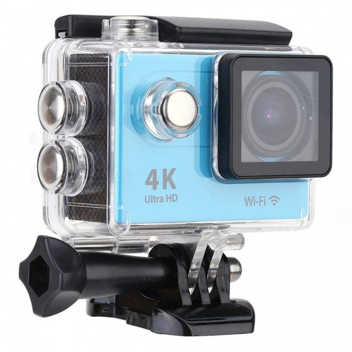 32GB 2.0 LCD HD Wi-Fi 4K 1080p 60fps 12MP Action Camera - BlueSport Cameras<br>Form  ColorBlue + Black + 32GB MemoryShade Of ColorBlueMaterialABSQuantity1 pieceImage SensorOthers,12 Mega Pixel OV4689Anti-ShakeYesFocal DistanceFocusing RangePhotographed function: Panoramic (5M/8M/12M/16M) cmFocusing RangeFocusing RangePhotographed function: Panoramic (5M/8M/12M/16M)Effective Pixels4K 25fps/ 2.7K 30fps/ 1080P 60fps/ 1080P 30fps/ 720 60fpsImagesJPGStill Image Resolution12M(4000 x 3000)/ 8M(3264 x 2448)/ 5M(2592 x 1944)/ 4M(2304 x 1728)VideoMOVVideo Resolution4K 25fps/ 2.7K 30fps/ 1080P 60fps/ 1080P 30fps/ 720 60fpsVideo Frame Rate30,60Cycle RecordYesISONoExposure CompensationNoSupports Card TypeSDSupports Max. Capacity32 GBLCD ScreenYesScreen Size2 inchBattery Measured Capacity 1050 mAhNominal Capacity1050 mAhBattery included or notYesPacking List1 x Mini Sport Camera1 x Waterproof Case1 x Power adapter1 x 32GB Memory1 x Battery1 x USB Cable1 x Bicycle Stand1 x Camera Bracket1 x Clip1 x Fixed Base1 x J-shaped Mount Base1 x Replacement Waterproof Case Back1 x Wiper2 x Adhesive Tapes2 x Helmet Bases3 x Switch Supports2 x Bandages4 x Ribbon cables1 x Wire Rope1 x User Manual (English)<br>