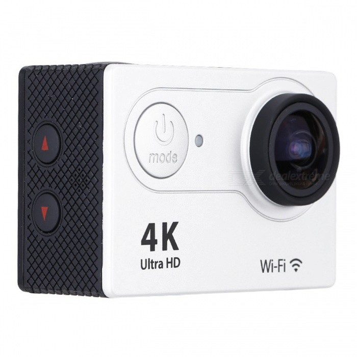 32GB 2.0 LCD HD Wi-Fi 4K 1080p 60fps 12MP Action Camera - WhiteSport Cameras<br>Form  ColorWhite + Black + 32GB MemoryShade Of ColorWhiteMaterialABSQuantity1 DX.PCM.Model.AttributeModel.UnitImage SensorOthers,12 Mega Pixel OV4689Anti-ShakeYesFocal DistanceFocusing RangePhotographed function: Panoramic (5M/8M/12M/16M) DX.PCM.Model.AttributeModel.UnitFocusing RangeFocusing RangePhotographed function: Panoramic (5M/8M/12M/16M)Effective Pixels4K 25fps/ 2.7K 30fps/ 1080P 60fps/ 1080P 30fps/ 720 60fpsImagesJPGStill Image Resolution12M(4000 x 3000)/ 8M(3264 x 2448)/ 5M(2592 x 1944)/ 4M(2304 x 1728)VideoMOVVideo Resolution4K 25fps/ 2.7K 30fps/ 1080P 60fps/ 1080P 30fps/ 720 60fpsVideo Frame Rate30,60Cycle RecordYesISONoExposure CompensationNoSupports Card TypeSDSupports Max. Capacity32 DX.PCM.Model.AttributeModel.UnitLCD ScreenYesScreen Size2 DX.PCM.Model.AttributeModel.UnitBattery Measured Capacity 1050 DX.PCM.Model.AttributeModel.UnitNominal Capacity1050 DX.PCM.Model.AttributeModel.UnitBattery included or notYesPacking List1 x Mini Sport Camera1 x Waterproof Case1 x Power adapter1 x 32GB Memory1 x Battery1 x USB Cable1 x Bicycle Stand1 x Camera Bracket1 x Clip1 x Fixed Base1 x J-shaped Mount Base1 x Replacement Waterproof Case Back1 x Wiper2 x Adhesive Tapes2 x Helmet Bases3 x Switch Supports2 x Bandages4 x Ribbon cables1 x Wire Rope1 x User Manual (English)<br>