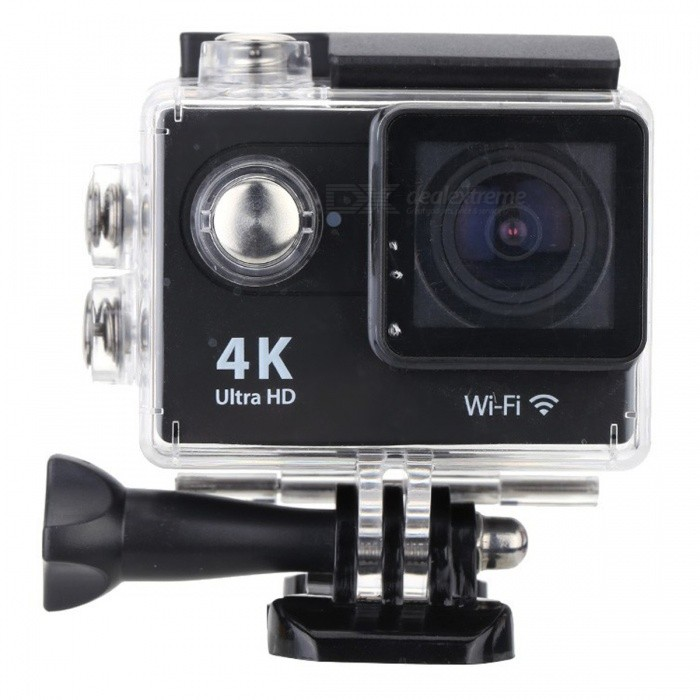 32GB 2.0 LCD HD Wi-Fi 4K 1080p 60fps 12MP Action Camera - BlackSport Cameras<br>Form  Color Black + 32GB MemoryShade Of ColorBlackMaterialABSQuantity1 pieceImage SensorOthers,12 Mega Pixel OV4689Anti-ShakeYesFocal DistanceFocusing RangePhotographed function: Panoramic (5M/8M/12M/16M) cmFocusing RangeFocusing RangePhotographed function: Panoramic (5M/8M/12M/16M)Effective Pixels4K 25fps/ 2.7K 30fps/ 1080P 60fps/ 1080P 30fps/ 720 60fpsImagesJPGStill Image Resolution12M(4000 x 3000)/ 8M(3264 x 2448)/ 5M(2592 x 1944)/ 4M(2304 x 1728)VideoMOVVideo Resolution4K 25fps/ 2.7K 30fps/ 1080P 60fps/ 1080P 30fps/ 720 60fpsVideo Frame Rate30,60Cycle RecordYesISONoExposure CompensationNoSupports Card TypeSDSupports Max. Capacity32 GBLCD ScreenYesScreen Size2 inchBattery Measured Capacity 1050 mAhNominal Capacity1050 mAhBattery included or notYesPacking List1 x Mini Sport Camera1 x Waterproof Case1 x Power adapter1 x 32GB Memory1 x Battery1 x USB Cable1 x Bicycle Stand1 x Camera Bracket1 x Clip1 x Fixed Base1 x J-shaped Mount Base1 x Replacement Waterproof Case Back1 x Wiper2 x Adhesive Tapes2 x Helmet Bases3 x Switch Supports2 x Bandages4 x Ribbon cables1 x Wire Rope1 x User Manual(English)<br>