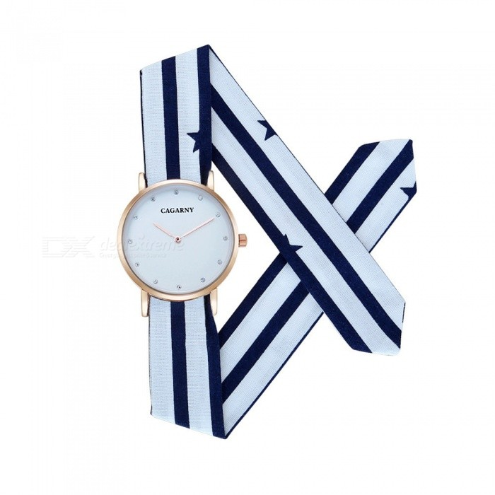 CAGARNY 6813 Ultra-Thin Diamond Womens Casual Quartz Watch - BlueWomens Dress Watches<br>Form  ColorWhite + Blue + Multi-ColoredModel6813Quantity1 pieceShade Of ColorWhiteCasing MaterialAlloyWristband MaterialClothGenderWomenSuitable forAdultsStyleWrist WatchDisplayDigitalBacklightNoMovementQuartzDisplay Format12 hour formatWater ResistantFor daily wear. Suitable for everyday use. Wearable while water is being splashed but not under any pressure.Dial Diameter3.6 cmDial Thickness0.8 cmBand Width2 cmWristband Length33 cmBatterysr626sw / 1pcPacking List1 x Watch<br>