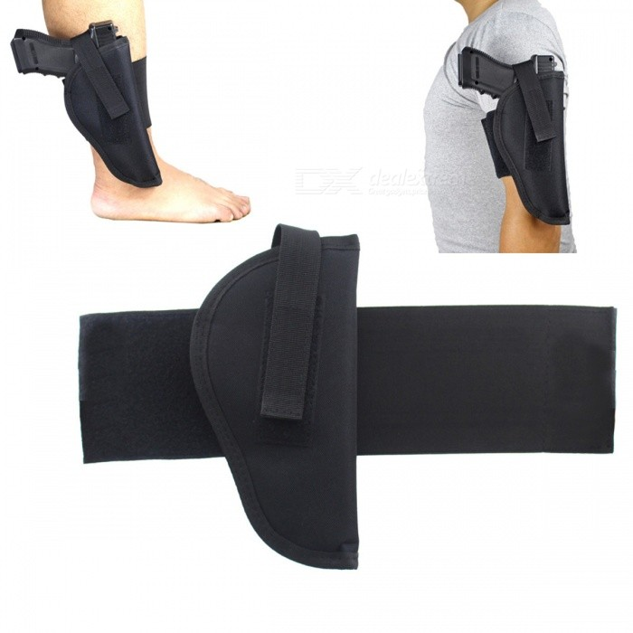 Outdoor Removable Tactics Lower Leg Ankle Pistol Holster - BlackGun Holsters<br>Form  ColorBlackMaterialNylonQuantity1 pieceGun TypePistolPacking List1 x Holster<br>