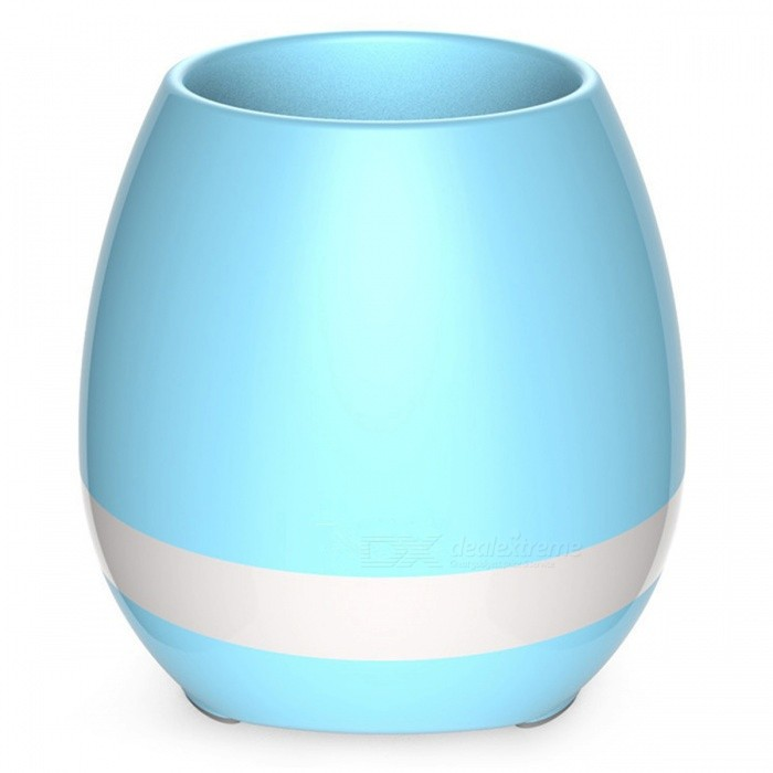 Creatvie Flowerpot Shape Bluetooth Speaker - BlueBluetooth Speakers<br>Form  ColorBlueModelNMaterialABSQuantity1 pieceShade Of ColorBlueBluetooth HandsfreeYesBluetooth VersionBluetooth V4.0Operating Range10mTotal Power5 WInterface3.5mmMicrophoneNoSNR90dbFrequency Response60Hz-15KHzImpedance3 ohmApplicable ProductsOthers,Android&amp;iOSRadio TunerNoBuilt-in Battery Capacity 1200 mAhBattery TypeLi-polymer batteryStandby Time24 hoursMusic Play Time12 hoursPower AdapterUSBPacking List1 x Music flowerpot1 x USB cable1 x User Manual<br>