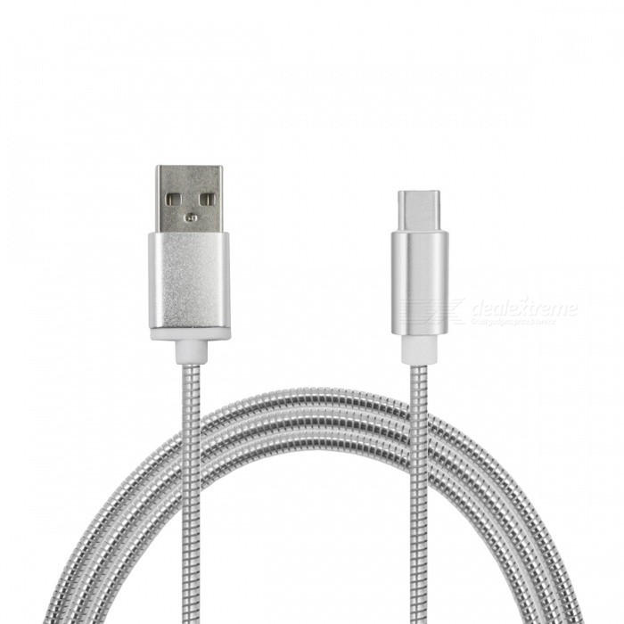 3.4A Stainless Steel Spring USB 3.1 Type-C Fast Charging Data CableCables<br>Form  ColorSilverModelMC-01MaterialStainless steelQuantity1 DX.PCM.Model.AttributeModel.UnitCompatible ModelsSamsung / Huawei / LG / OneplusCable Length100 DX.PCM.Model.AttributeModel.UnitConnectorUSB 3.1 Type-cPacking List1 x Cable<br>