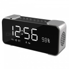Hi-Fi Portable Wireless Stereo Speaker with Alarm Clock - Grey