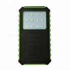 Ismartdigi 12LED GN 12000mAh Waterproof Solar Power Bank - Green