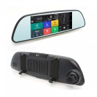 "Junsun 6.5"" Dash Cam Full HD 3G Rearview Mirror Car DVR - Black"
