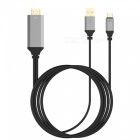 USB 3.1 Type-C USB-C to HDMI 4K Cable for Phone, PC - Black