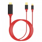 USB 3.1 Type-C USB-C to HDMI 4K Cable for Phone, PC - Red