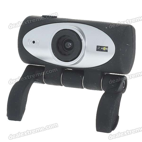Compact 1.3MP PC USB 2.0 Webcam with Built-in Microphone (Black + Silver)