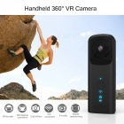 Handheld Wi-Fi 360 Degree VR Camera with Dual Lens - Black