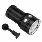ZHAOYAO Professional 5000LM 4-Mode Scuba Diving Flashlight - Black