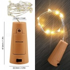KWB 6Pcs Warm White Bottle Shape Fairy String Lights with Screwdriver