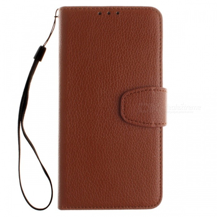 Dayspirit Lichee Pattern Leather Case for Huawei Honor 8 Lite - BrownLeather Cases<br>Form  ColorBrownModelN/AMaterialPU leatherQuantity1 DX.PCM.Model.AttributeModel.UnitShade Of ColorBrownCompatible ModelsHuawei Honor 8 LitePacking List1 x Case1 x Lanyard<br>