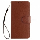 Dayspirit Lichee Pattern Leather Case for Huawei Honor 8 Lite - Brown