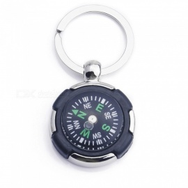 ZIQIAO Car Tyre Shape Compass with Keyring Key Chain