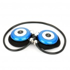 USB Rechargeable Trendy Sport MP3 Player with FM Radio & TF Slot (Black + Blue)