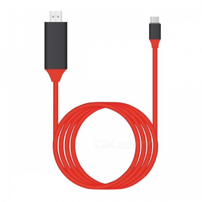 BSTUO USB3.1 Type-C to HDMI Cable 4K HDTV Cable Adapter -Red (2m)Laptop/Tablet Cable&amp;Adapters<br>Form  ColorRedQuantity1 pieceShade Of ColorRedMaterialABSInterfaceOthers,Type-C/HDMITypeOthers,Mobile Phone, NotebookCompatible BrandAPPLE,Dell,HP,Toshiba,Acer,Lenovo,Samsung,MSI,Sony,IBM,Asus,Thinkpad,HuaweiTransmission Rate10 GbpsPacking List1 x USB3.1 to HDMI cable (200cm)<br>